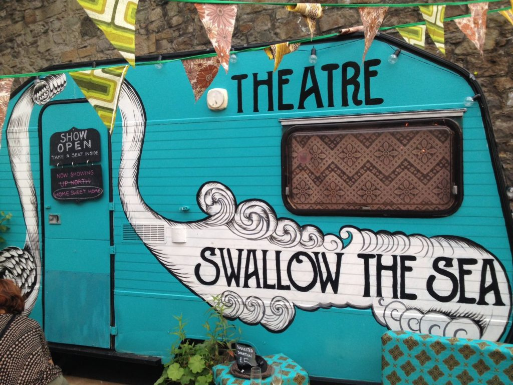 The Swallow The Sea Theatre Caravan view from outside